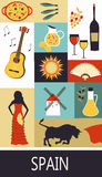 Spain. Symbols of  Spain. Vector illustration Stock Images