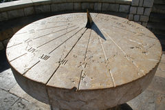 Spain. Tarragona. Ancient Sundial Royalty Free Stock Images