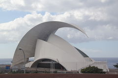 Spain, Tenerife, views of the ocean and Concert Hall Royalty Free Stock Photos