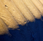 In   spain texture abstract of a  dry sand and the beach Royalty Free Stock Photography