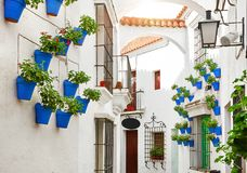 Free Spain. Traditional Mediterranean Street In Old Town Stock Image - 142886701