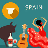 Spain travel theme. Vector illustration Royalty Free Stock Photography