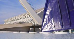 Spain valencia aquarium museum of science day light panorama 4k spain stock video