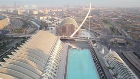 Spain, Valencia, City of Arts and Sciences, aerial shoot, top view