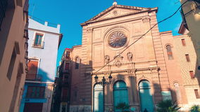 Spain valencia sun light cathedral block 4k time lapse stock video