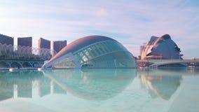 Spain valencia sun light opera and planetarium 4k time lapse stock video
