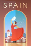 Spain. Vector poster. Royalty Free Stock Photography