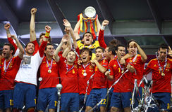 Spain - vencedor do EURO 2012 do UEFA Fotografia de Stock Royalty Free