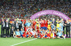Spain - vencedor do EURO 2012 do UEFA Imagem de Stock