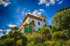 spain Villa i Barcelona Arkivbilder