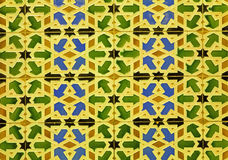 Spain - wall tiling in Mudejar style Stock Image