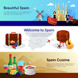 Spain Welcome Travelers Banners Set Royalty Free Stock Image