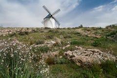 spain windmill royaltyfri bild