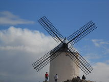 spain windmill Arkivfoto