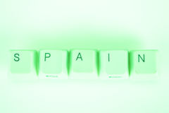 Spain word written with computer buttons Royalty Free Stock Photography