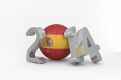 Spain world cup 2014. On white background Stock Images