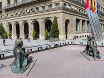 spain Zaragoza Royaltyfria Foton