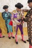 Spainish bullfighter Jose Maria Manzanares putting itself the wa Stock Photo