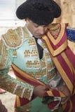 Spainish bullfighter Manuel Jesus EL Cid putting itself the walk Royalty Free Stock Photo