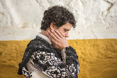 Spainish bullfighter Miguel Abellan totally focused moments befo Stock Photos
