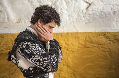 Spainish bullfighter Miguel Abellan totally focused moments befo Royalty Free Stock Photography