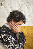 Spainish bullfighter Miguel Abellan totally focused moments befo Stock Photo