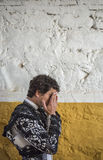 Spainish bullfighter Miguel Abellan totally focused moments befo Stock Images