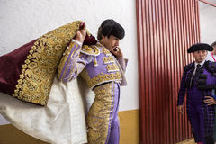 Spainish bullfighter Sebastian Castella putting itself the walk Royalty Free Stock Photography
