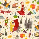 Spainish landmark pattern vector background. Stock Photos