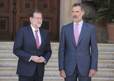 Spains King and Prime minister summer Meeting Royalty Free Stock Photo
