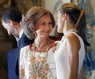 Spains królewska królowa i matki królowa Obraz Stock