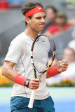 Spains Rafael Nadal in action during the Madrid Mutua tennis Ope Stock Photo