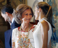 Spains royal queen and mother queen Stock Image