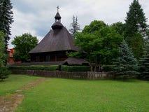 从Spala的落叶松属教会 图库摄影