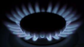 Spalanie gaz naturalny w palniku zdjęcie wideo