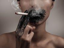 Spalanie od dymienia Zdjęcie Stock