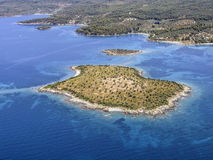 Spalathronisi small island, Greece Royalty Free Stock Photography