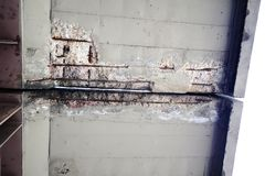 Spalling Concrete Stock Photo