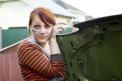 Spalmato di ritratto di una ragazza immagine stock libera da diritti