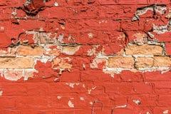 Spalona czerwieni ściana Zdjęcie Royalty Free