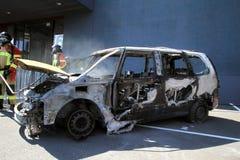 spalony samochód Zdjęcia Royalty Free