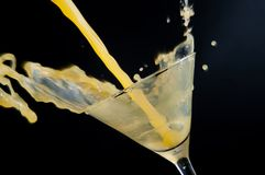 Spalshing drink Royalty Free Stock Photography
