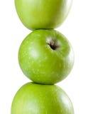Spalte der Äpfel Stockfotografie