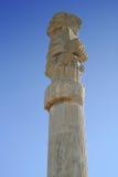 Spalte der alten Stadt von Persepolis, der Iran Lizenzfreies Stockbild