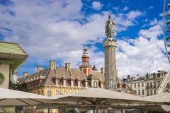 Spalte der Göttin, Grandâ€-² Platz, Lille, Frankreich lizenzfreie stockbilder