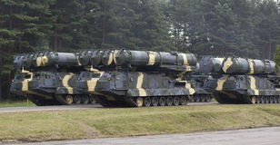 Spalte der militärischer Ausrüstung Lizenzfreie Stockfotografie
