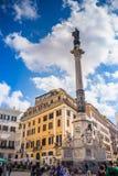 Spalte des Colonna-engen Tals der Unbefleckten Empfängnis ` Immacolata Stockfotografie