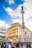 Spalte des Colonna-engen Tals der Unbefleckten Empfängnis ` Immacolata Lizenzfreies Stockfoto