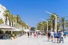 Spalte, Kroatien - 20. Juli 2017 Lizenzfreies Stockbild