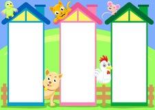 Spalte mit drei Häusern vektor abbildung